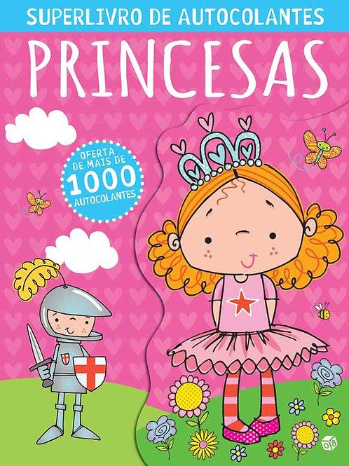 Superlivro de autocolantes para princesas: Livro de atividades