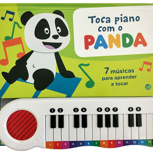 Toca Piano com o Panda: Livro de atividades com oferta de piano