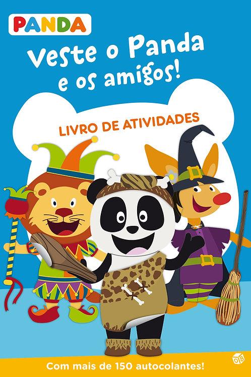 Veste o Panda e os amigos: Livro de atividades com oferta de autocolantes