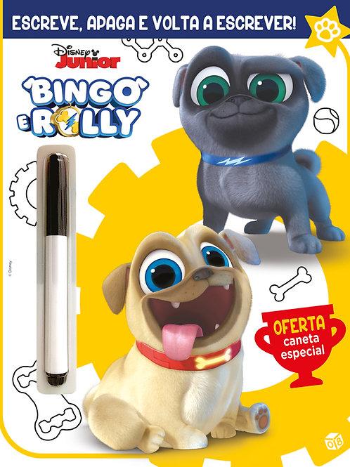 Bingo e Rolly – Escreve e apaga!: Livro de atividades com caneta especial