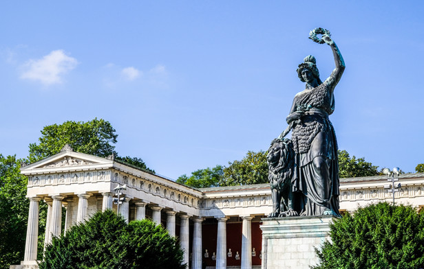 famous statue of bavaria at the theresie