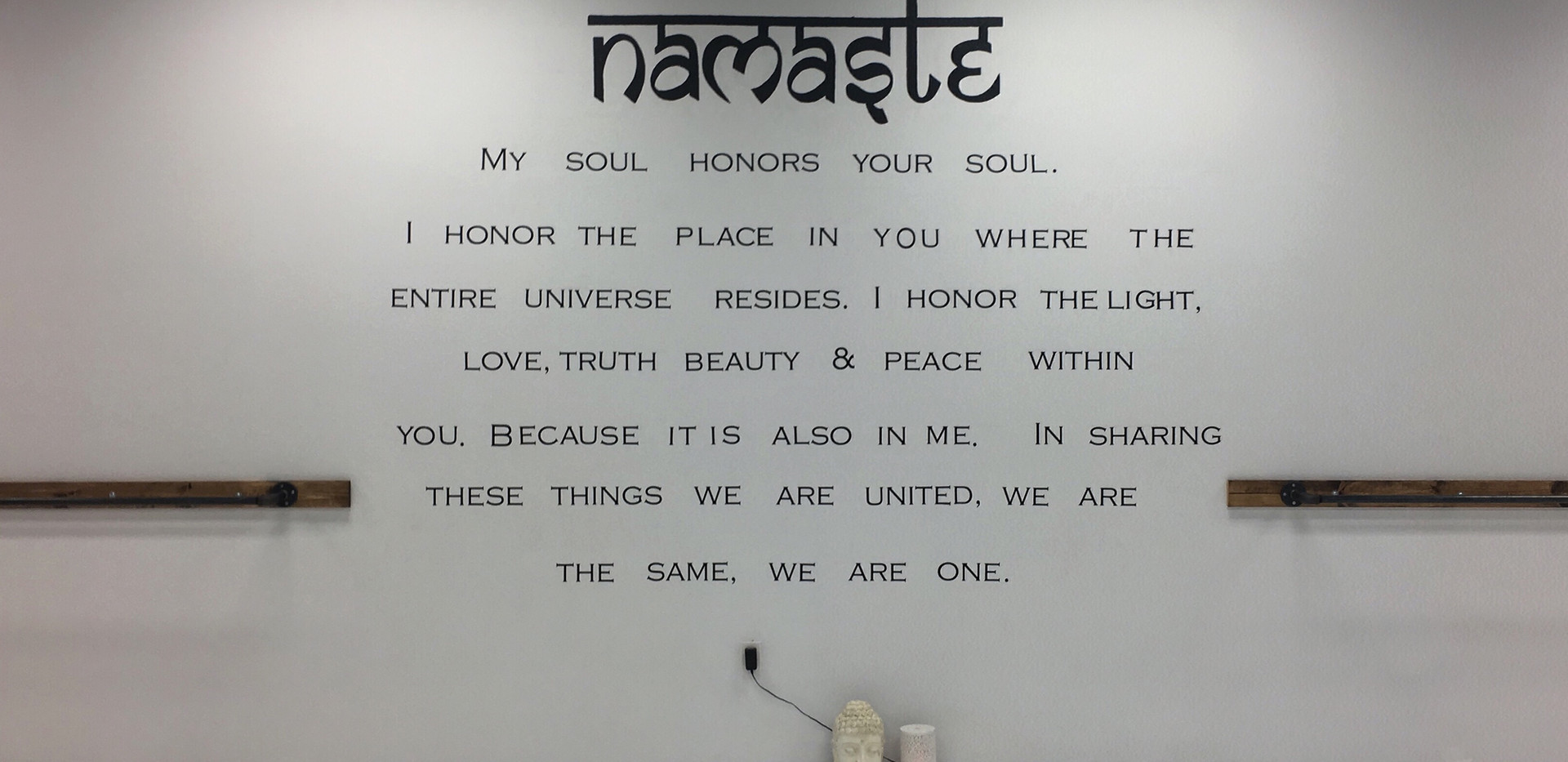 Namaste Wall