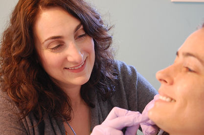 Woman doing electrolysis treatment