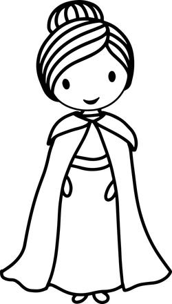 Amelie Coloring Page Princess Amelie
