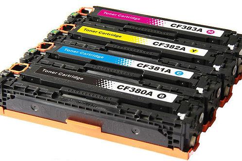 Toner per HP 83A CF380A CF381A CF382A CF383A