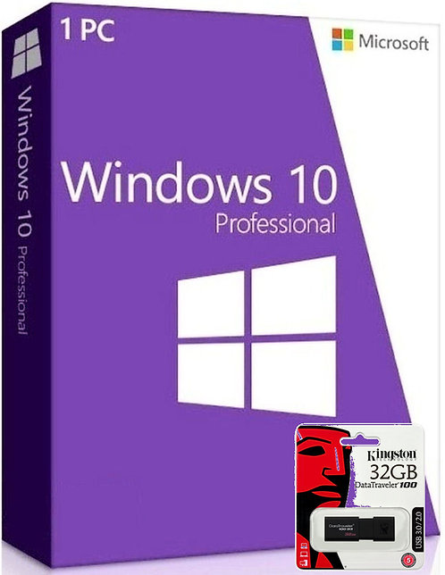 Microsoft Windows 10 Professional e Kingston DataTraveler USB 3.0