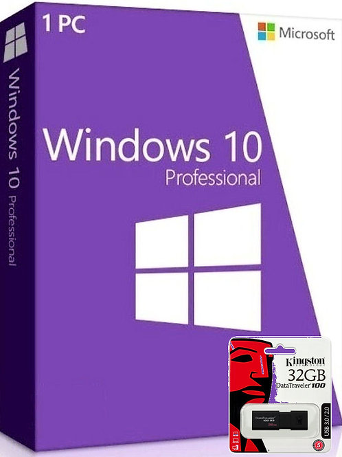 Microsoft Windows 10 Professional e Kingston DataTraveler USB 3.0