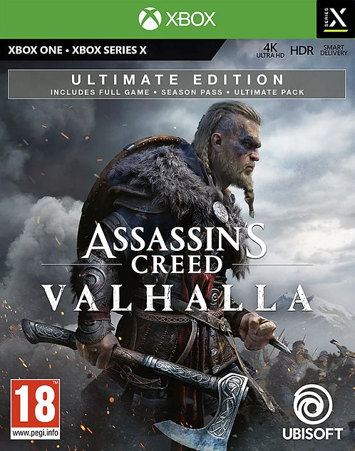 Assassin'S CREED Valhalla Ultimate Edition Digital Code Xbox One Xbox  Series