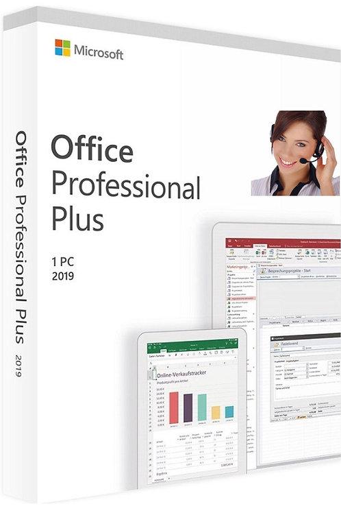 Microsoft Office 2019 Professional Plus, ATTIVAZIONE TELEFONICA