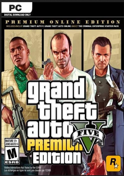 Grand Theft Auto V Premium Online Edition Digital game PC Windows