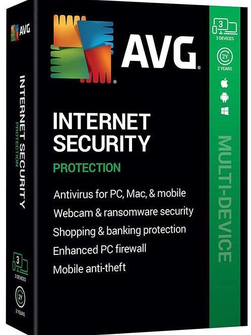 AVG Internet Security 2020 PC, 1 dispositivo / 1 anno