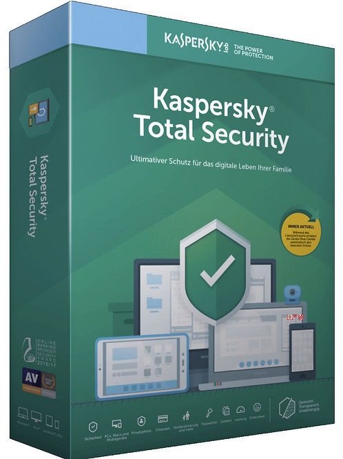 Kaspersky Total Security 2020 2021, 1 dispositivo / 1 anno