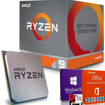 AMD Processore Ryzen 9 AM4 boxed incluso Software OS Windows, Office e Kingston