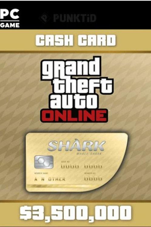 Whale Shark GTA Online Cash Card $ 3,500,000 Digital code PC Windows