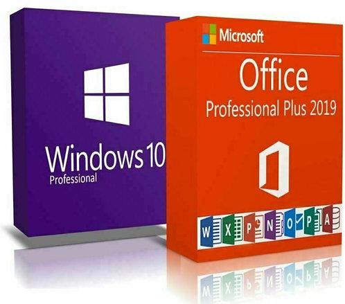 Microsoft Windows 10 Professional e Office 2019 Professional Plus