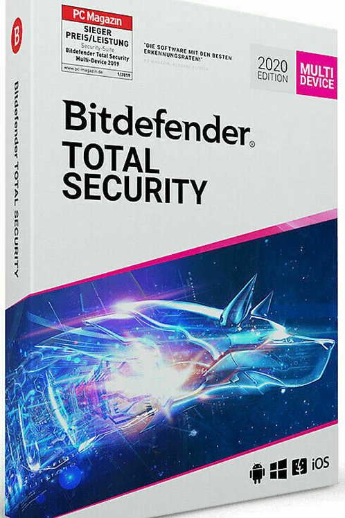 Bitdefender Total Security 2020, 5 dispositivi per 6 mesi