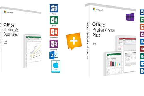 Microsoft Office 2019 Home Business Mac® e Office 2019 Professional Plus PC Win