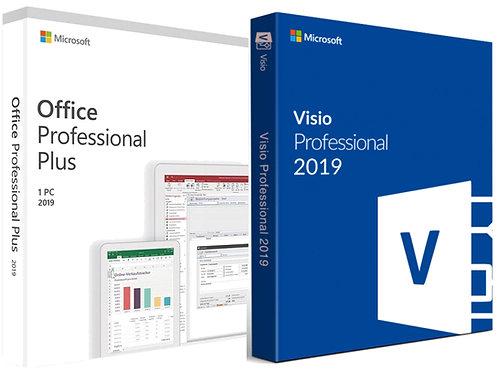 Microsoft Office 2019 Professional Plus e Visio 2019 Professional