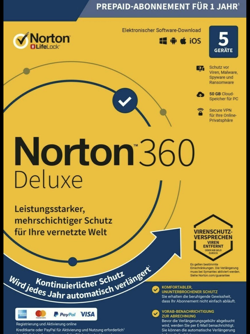 Norton 360 Deluxe 2021 | dispositivo | anno