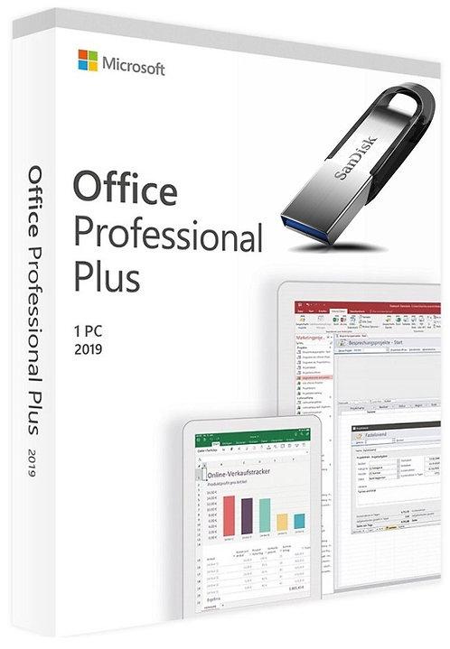 Microsoft Office 2019 Professional Plus e SanDisk Pendrive