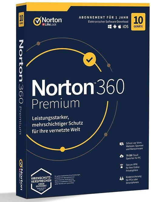 Norton 360 Premium 2020, 10 dispositivi / 1 anno