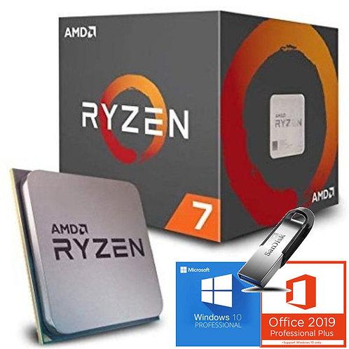 AMD Processore Ryzen 7 AM4 boxed incluso Software OS Windows, Office e Sandisk