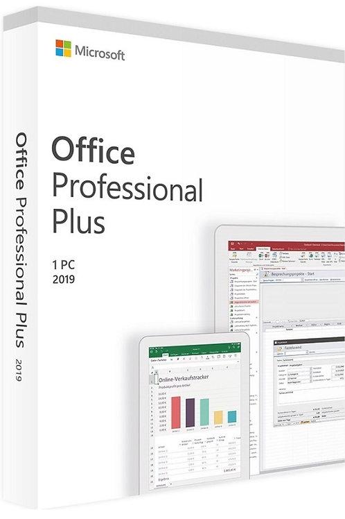 Microsoft Office 2019 Professional Plus, ATTIVAZIONE ONLINE