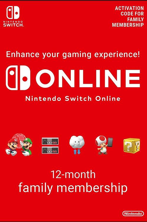 Nintendo Switch Online Iscrizione familiare Fino a 8 account