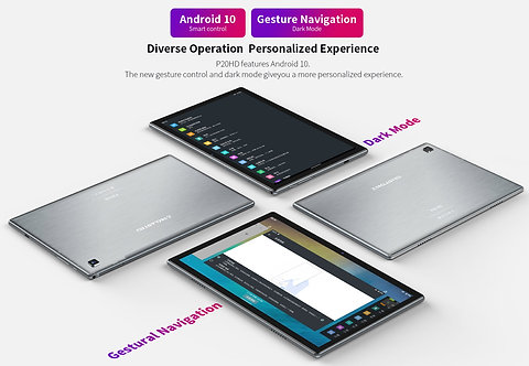 """Tablet PC 10"""" P20HD Android 10.0, 4G: FDD-LTE, 4GB 64GB"""