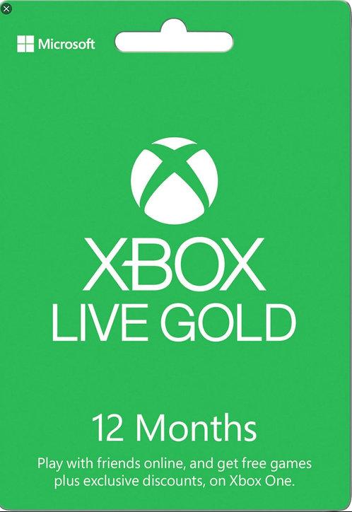 Xbox Live Gold Microsoft Xbox One S, Xbox One, Xbox 360 12 mesi