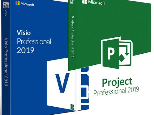 Microsoft Visio e Project 2019 Professional Plus