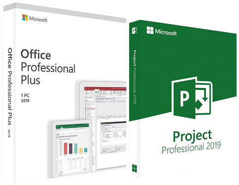 Microsoft Office 2019 Professional Plus e Project 2019 Professional