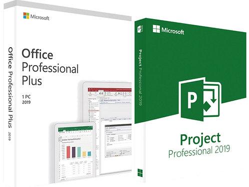 Microsoft Office 2019 Professional Plus e Project 2019 Professional