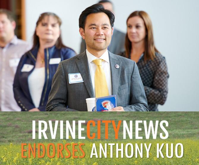 Irvine City News Endorses Anthony Kuo