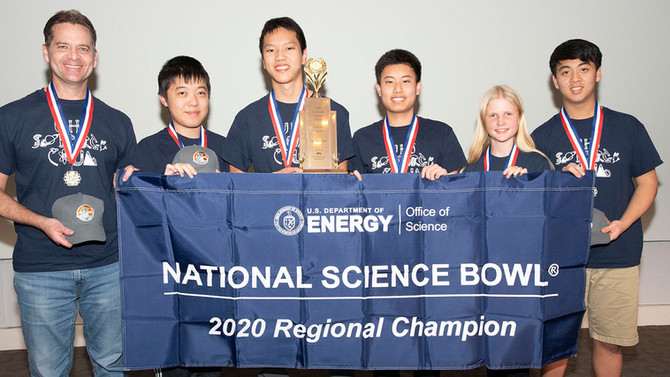 University High School Wins Regional Science Bowl at JPL Third Year in a Row