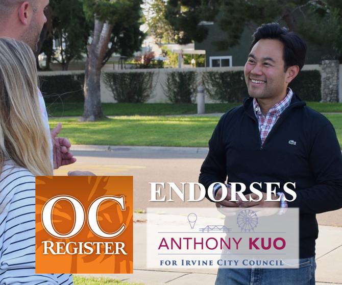 OC Register Endorses Anthony Kuo