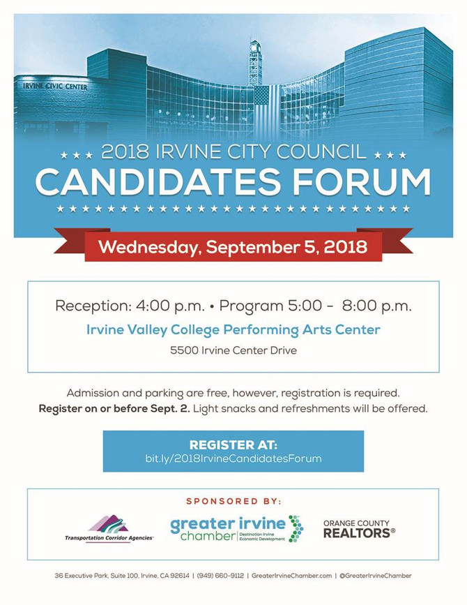 Greater Irvine Chamber to Host City Council Candidates Forum