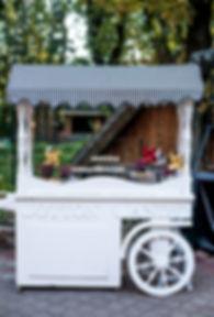 Cotton Candy cart with candy bar dessert