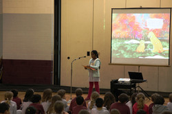book reading at the Bridgeport Catholic Academy School in Chicago