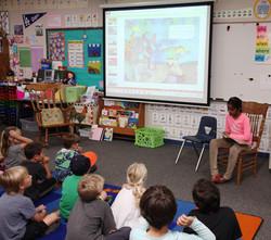 Book_Reading_Painted Rock Elementary School in Poway  San Diego.