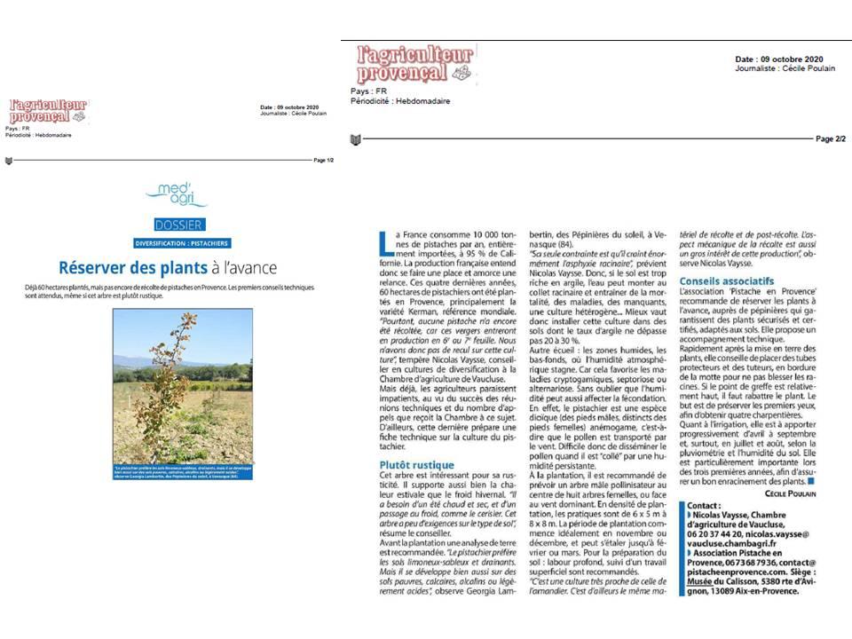 L'agriculteur Provençal_Oct 2020