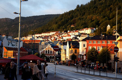 ノルウェーのベルゲンの街並み