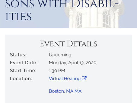 4/10 Online Hearing Notice: Joint Committee on Children, Families and Persons with Disabilities