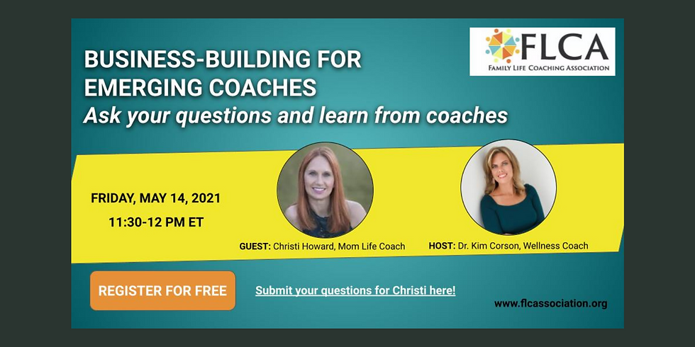 Webinar: Business Building for Emerging Coaches