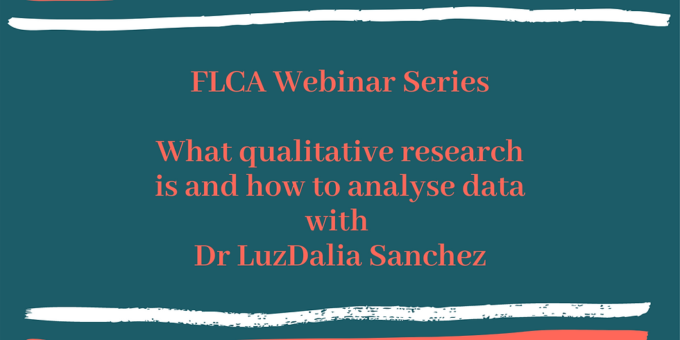 Webinar: What qualitative research is and how to analyse data.