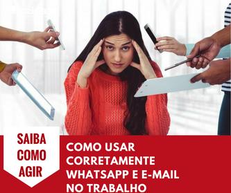 Como usar corretamente WhatsApp e e-mail no trabalho