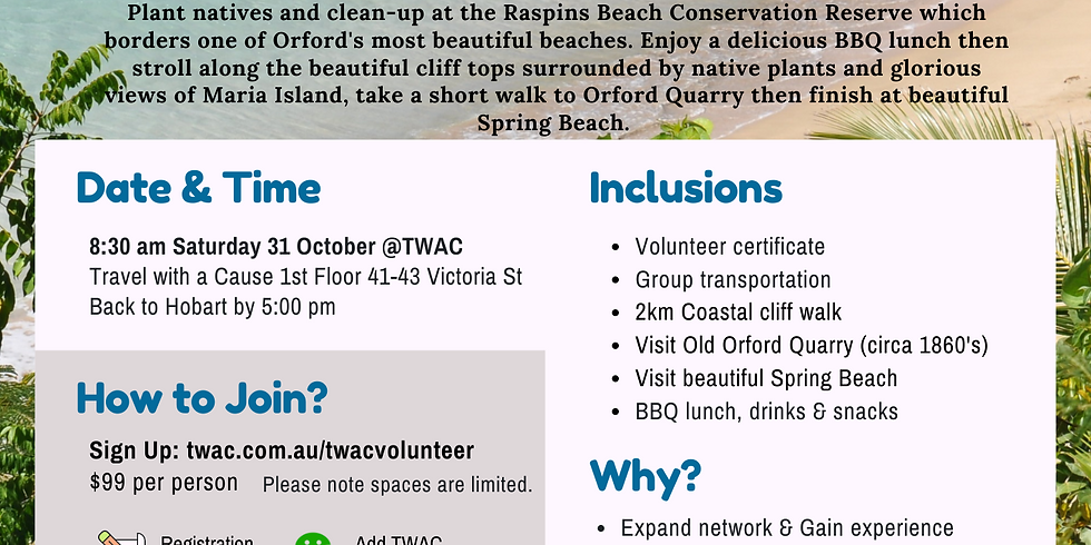 Orford Beach Clean-up & Tree Planting - SOLD OUT