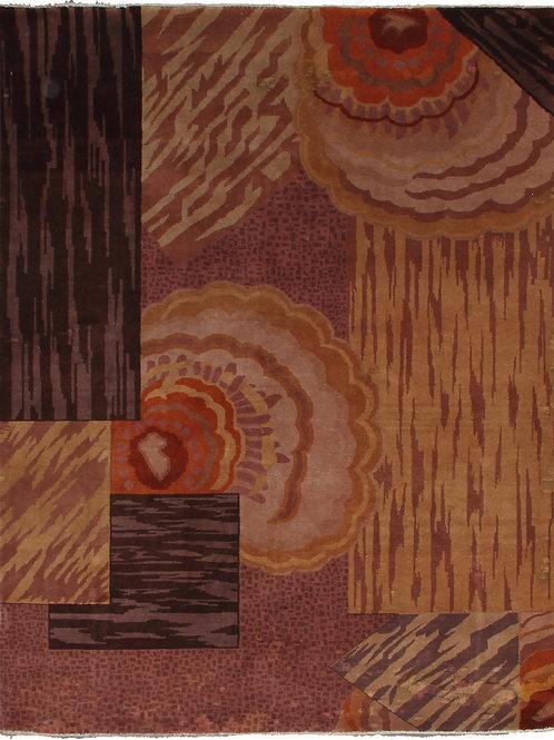 Brown Indian Art Deco Rug ARI-17910 5' x 7'
