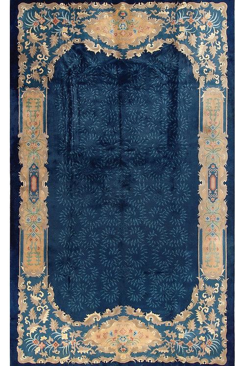 """Blue Aubusson Antique Chinese Art Deco Rug ARI-500546 10' 7"""" x 17' 3"""""""