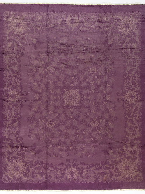 """Purple Floral Vintage Art Deco Rug ARI-500562 8' x 9' 6"""""""